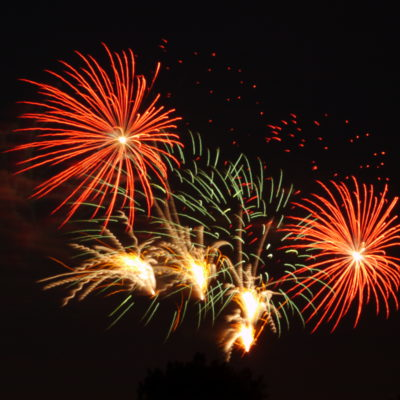 Long Exposure Fireworks, Fourth of July 2014
